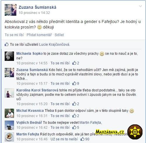 Vtipná situace na Facebooku